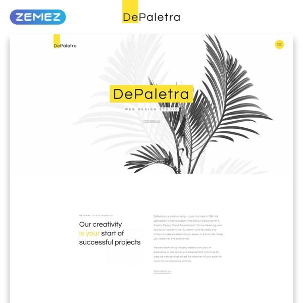 DePaletra Bootstrap Template