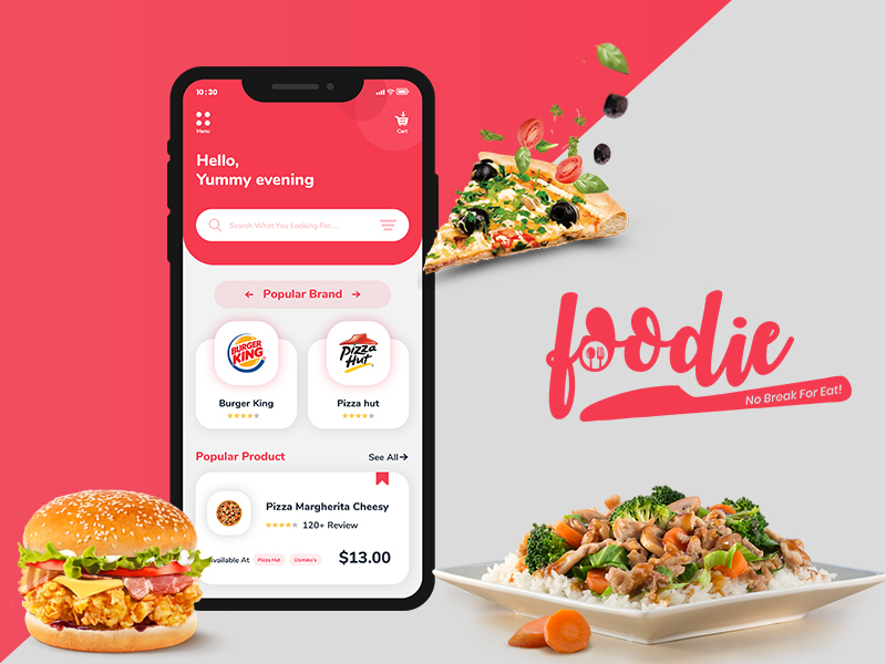 foodie app ui kit