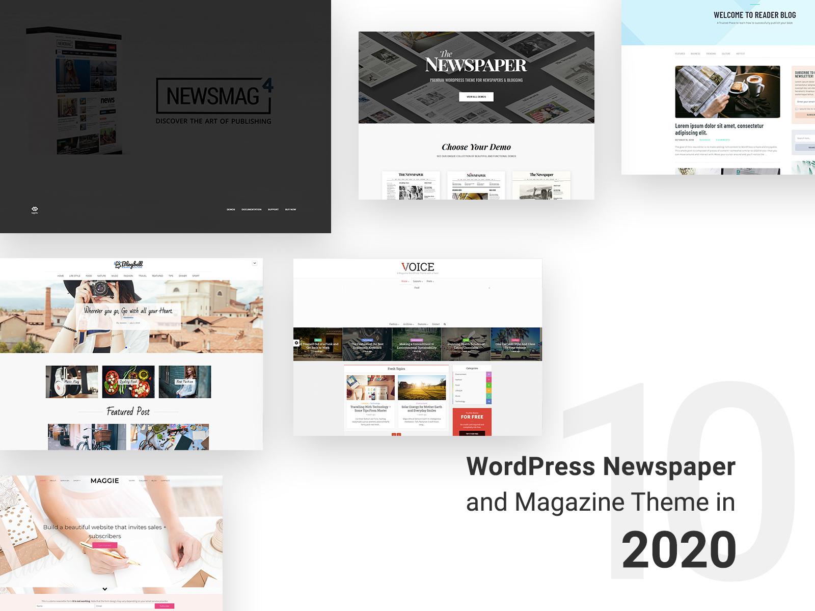 Newspaper and magazine wordpress theme