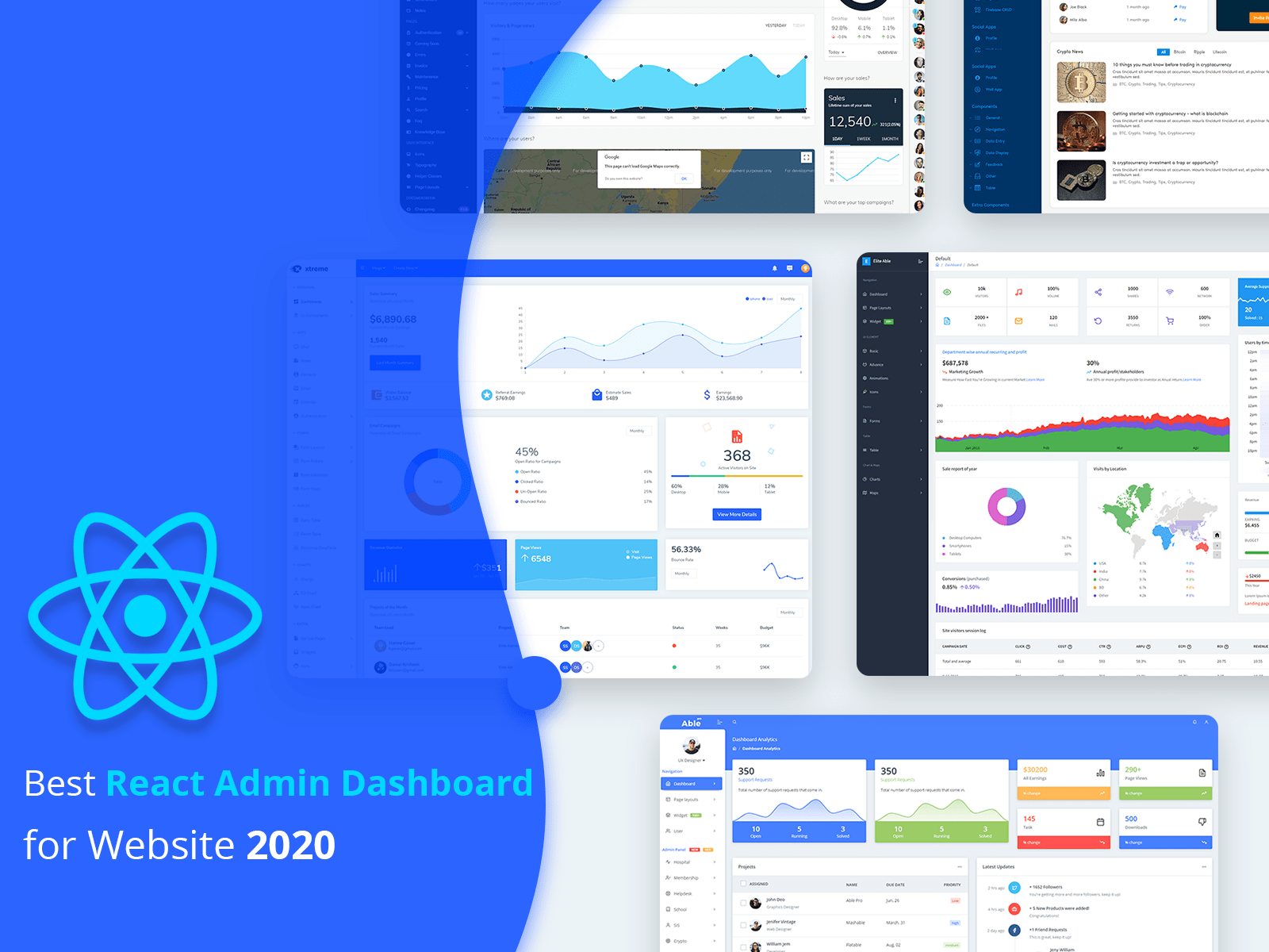 React admin dashboard