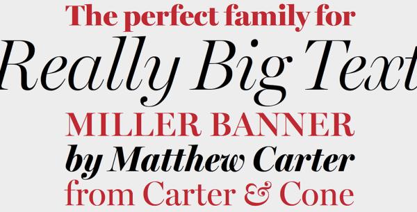miller fonts for Web Designers 2021