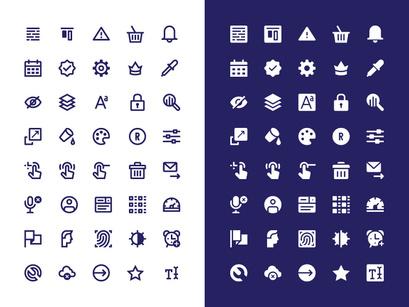 Interface free icon set