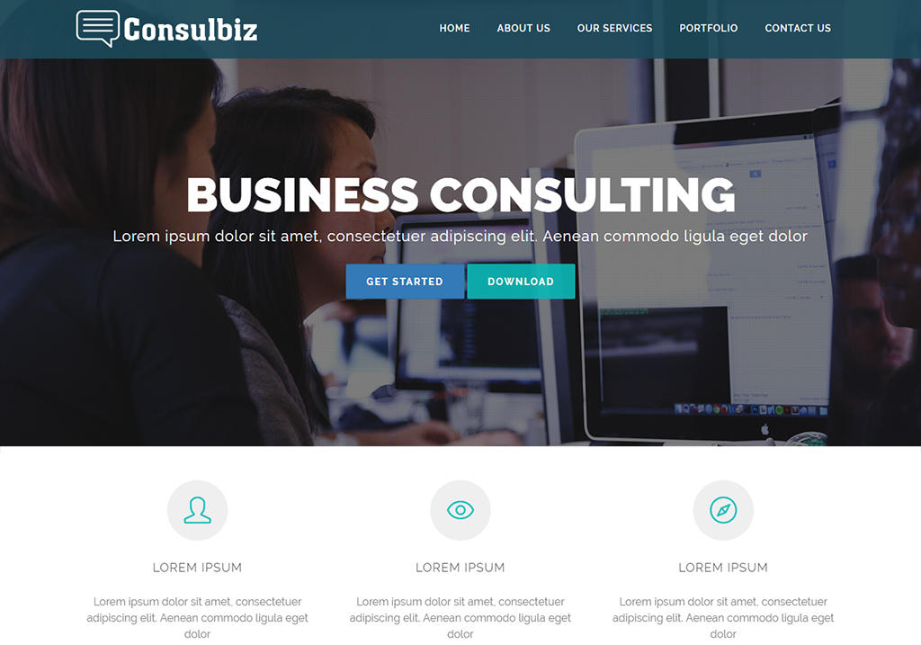 Consulbiz free consulting business bootstrap website
