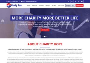 Charity website Template Free Download Bootstrap Charity Hope
