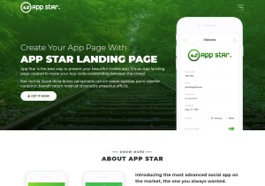 free android ios mobile app landing page template html5 bootstrap