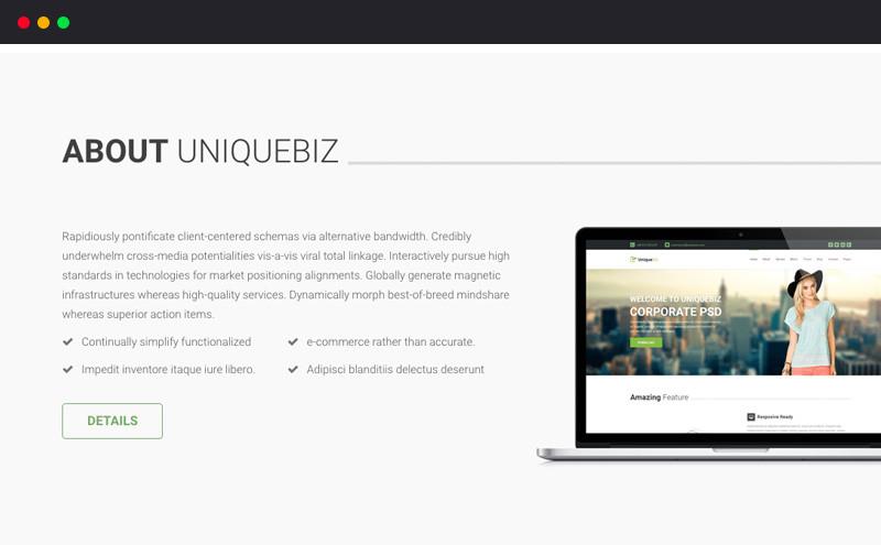 Image for UniqueBiz Corporate HTML Template