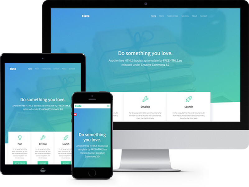 Image for Elate One Page HTML5 Bootstrap template