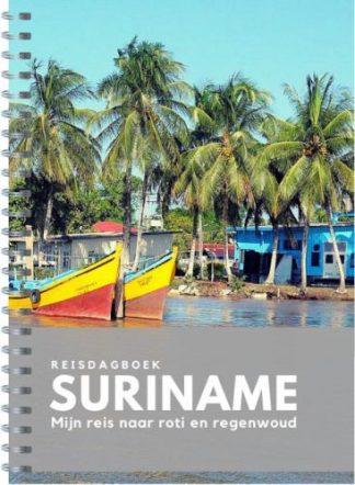 Voorzijde van reisdagboek Suriname