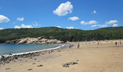 Sandy Beach in Acadia National Park