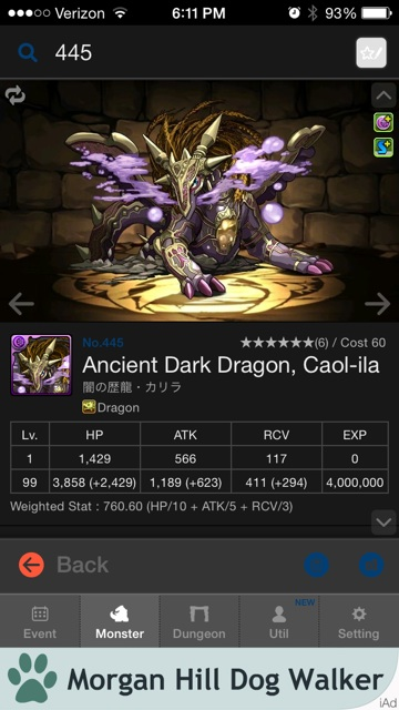 Ancient Dark Dragon, Caol Ila