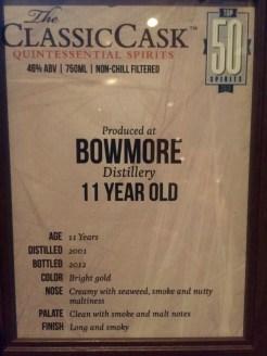 The Classic Cask Bowmore 11 YO