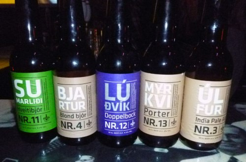 Selection of Borg beers at Lebowski