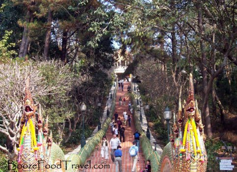 A lot of stairs to Wat Phrathat Doi Suthep