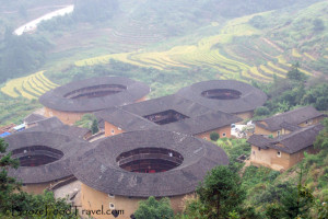 This tulou cluster is known as four dishes and a soup