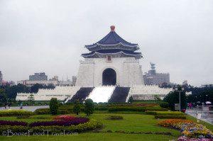 Chiang Kai-shek Memorial on a rainy afternoon