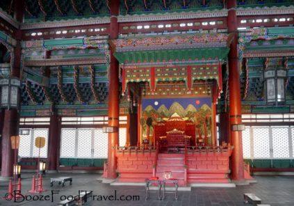 Inside the throne hall, Geunjeongjeon