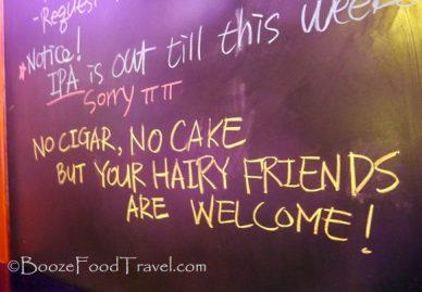 Way to make me feel welcome, Korean bar