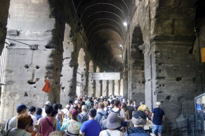 Welcome to the Colosseum, please wait in line to be fed to the lions and hippos