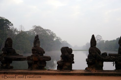 The guardians of Angkor Thom are allowing me to pass