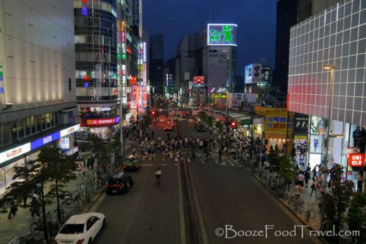 Calm before the storm in Shinjuku