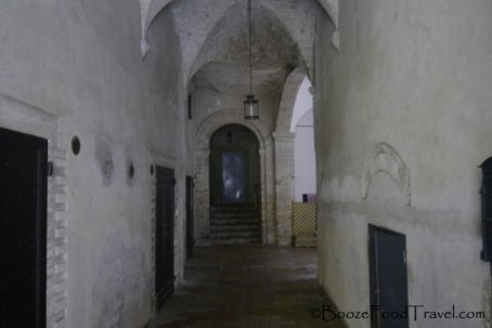 Entrance to the building in Perugia