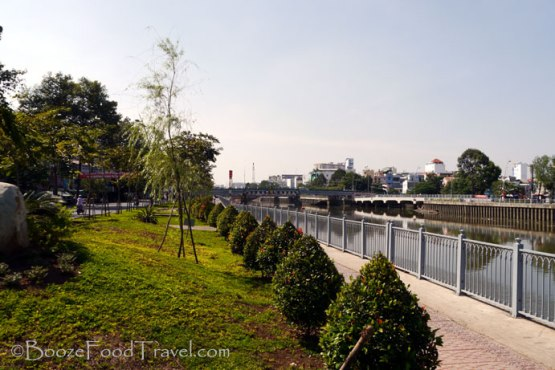 Bet you didn't know Saigon had such a pleasant riverside walk