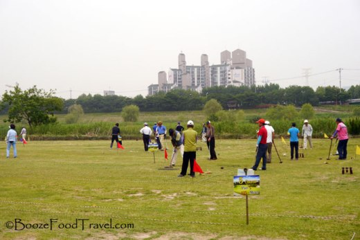 A game of croquet in the park in Seoul. I forgot about this until I perused my photos