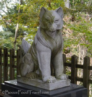 A stone dog at Musashi Mitake Shrine