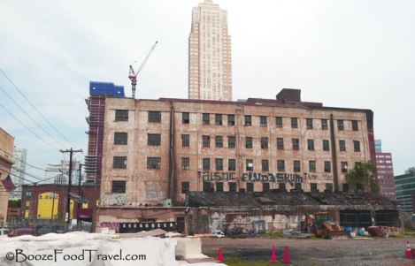 Jersey City redevelopment with the Trump Plaza behind