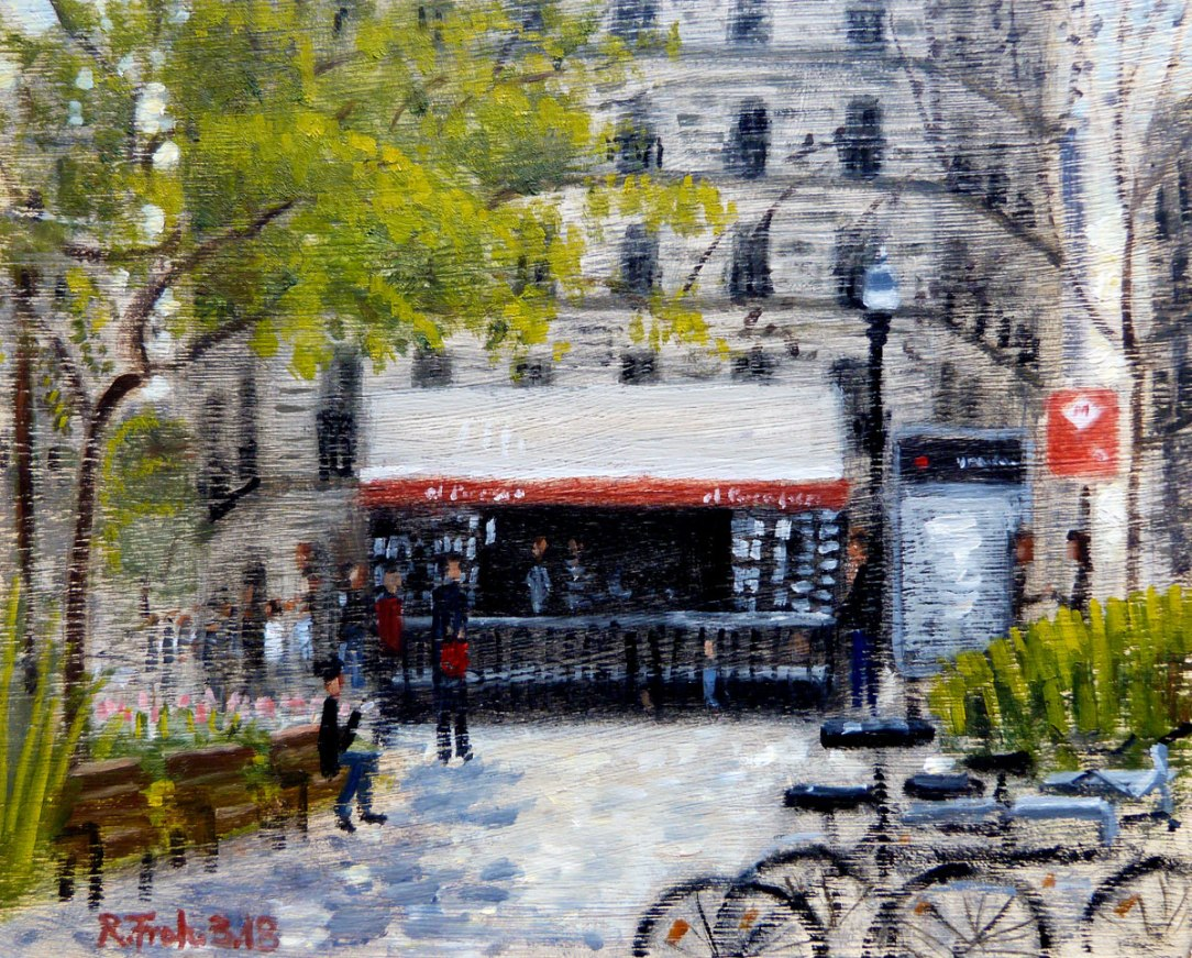 "Painting ""plaza urquinaona"" - Robert Froh as alcohol-free hobbie"