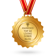 badge for alcohol free life blogs