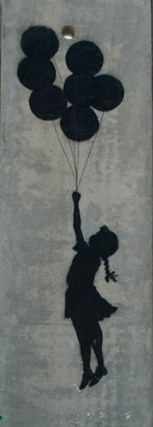 Banksy girl with balloons