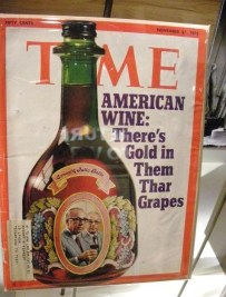 magazine cover about wine time