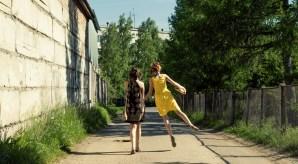 Two Women walking away