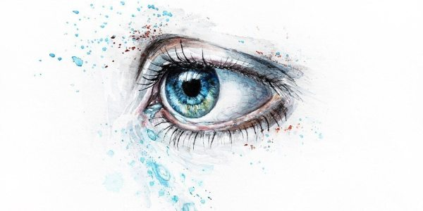 eye looking back