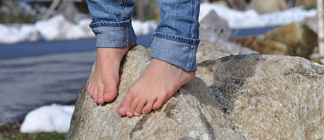 Balance to stay Sober - Barefoot on Rock