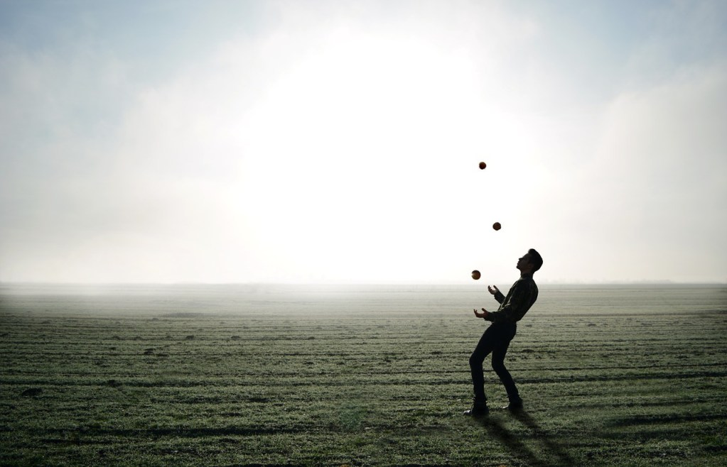 Man juggling 110 days sober