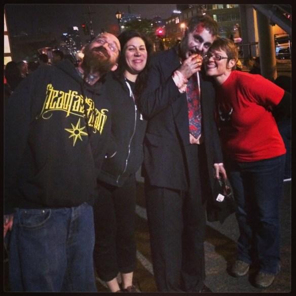 Jake, Colby, Zombie, & Demetra--HOF Zombie Escape NYC 2013
