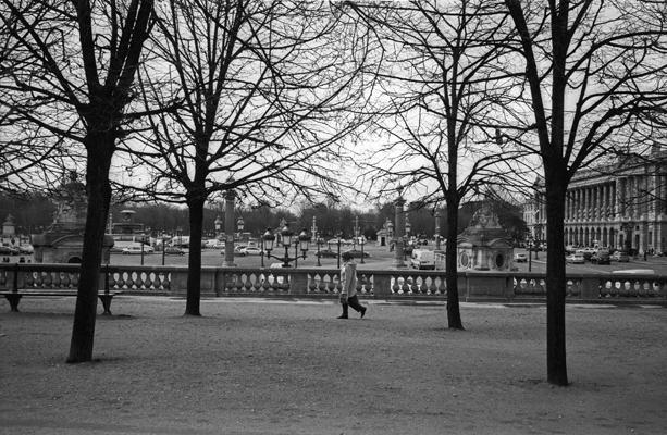 """Paris, in front of the """"Jeu de Paume"""""""