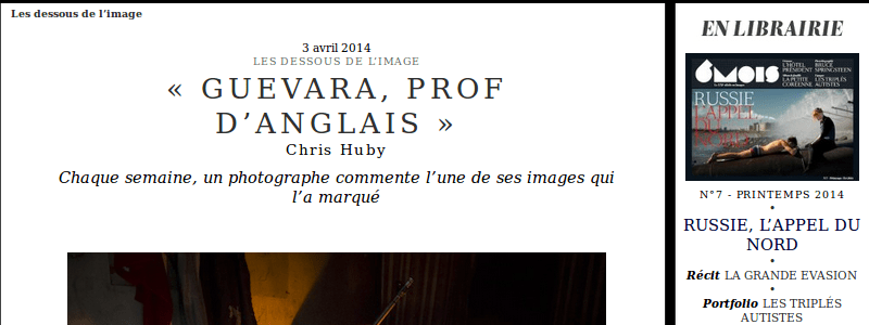 Chris Huby's article in 6 mois