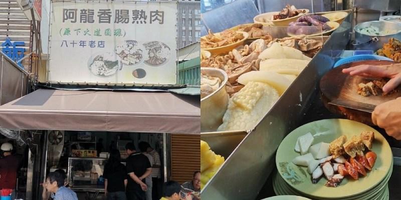 【台南 中西區】阿龍香腸熟肉。黑白切自由配每樣20元|保安路美食