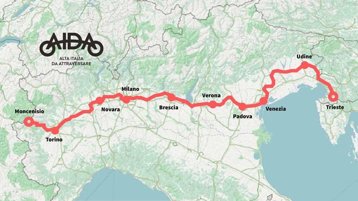 Ciclovia Aida da Trieste a Torino: a gonfie vele la raccolta fondi - Bora.La