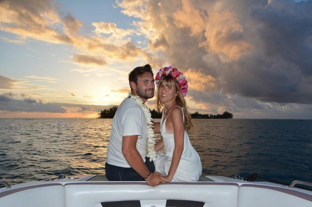 Sunset Loveboat Bora Bora