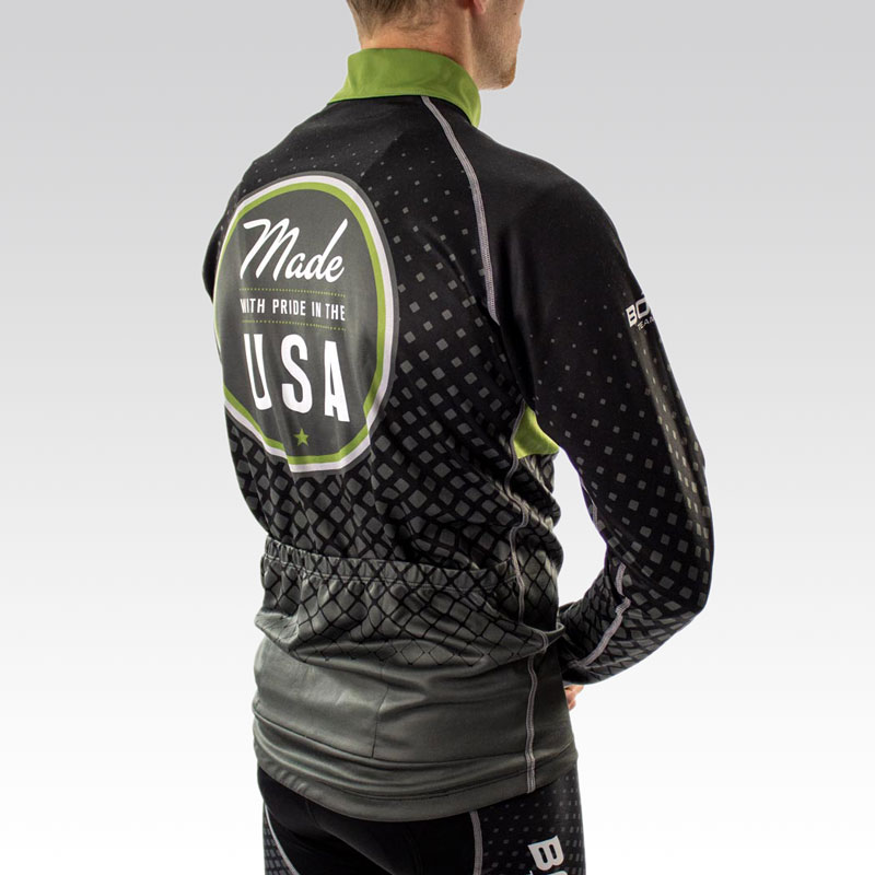 Pro Ardent Wool Cycling Jersey - Back 3qtr