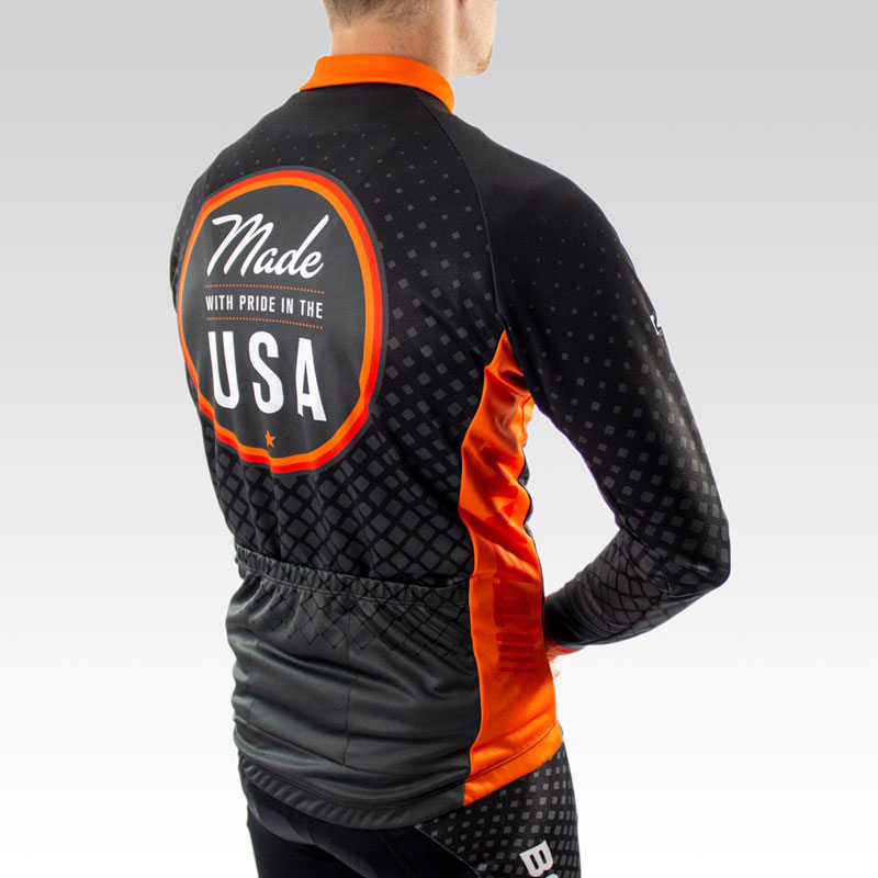 Team Long Sleeve Cycling Jersey -Back 3qtr