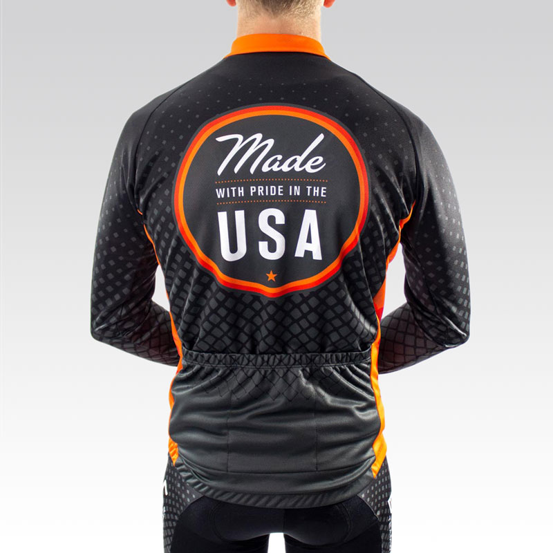 Team Long Sleeve Cycling Jersey -Back