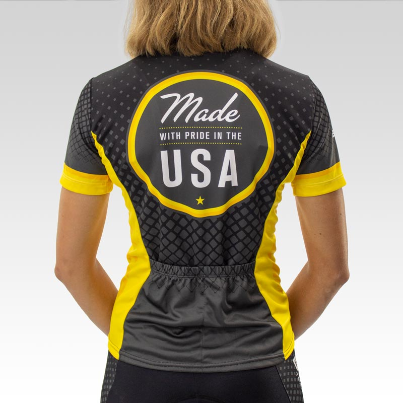 Women's Team Club Cut Cycling Jersey - Back