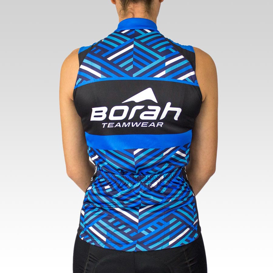 Women's Team Sleeveless Cycling Jersey - Back