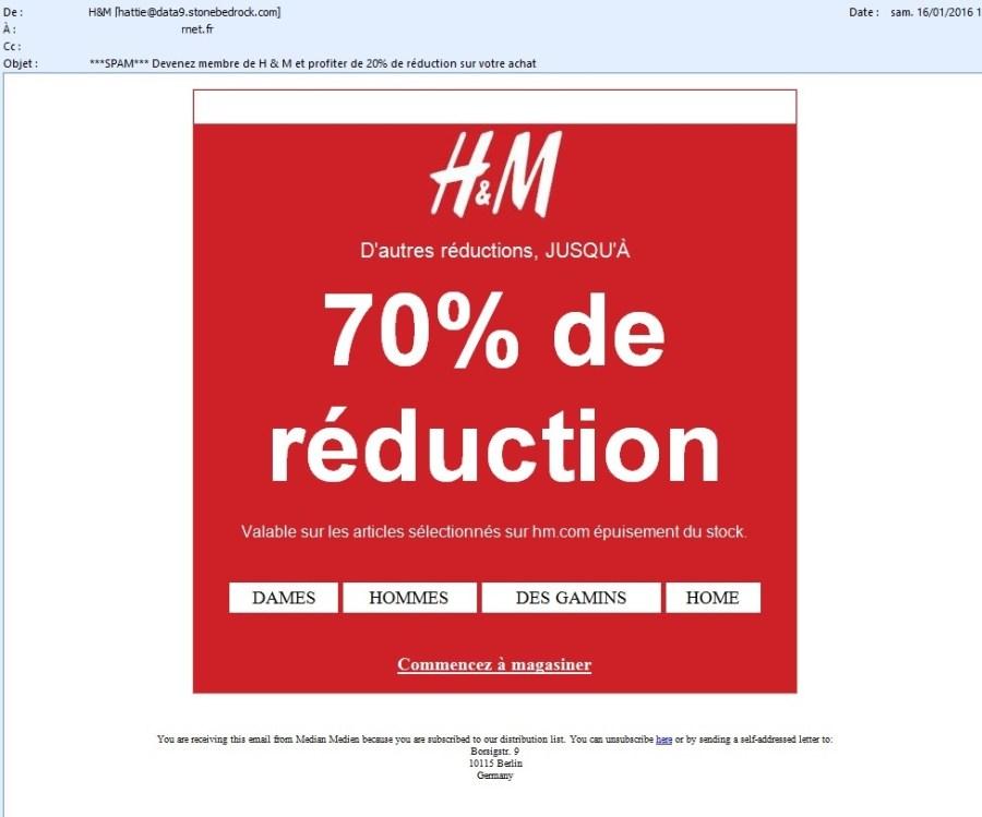 H&M n'est pas à l'origine de ce mail)