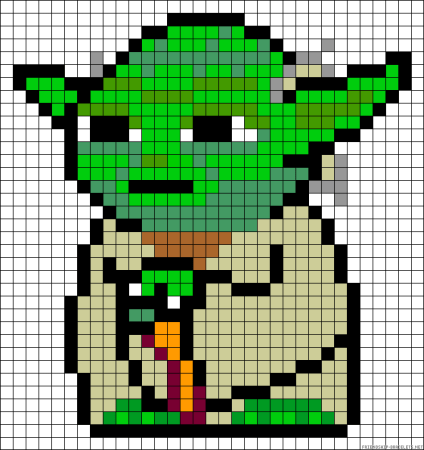 Yoda star wars ponto cruz 2